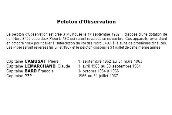 Peloton d Observation