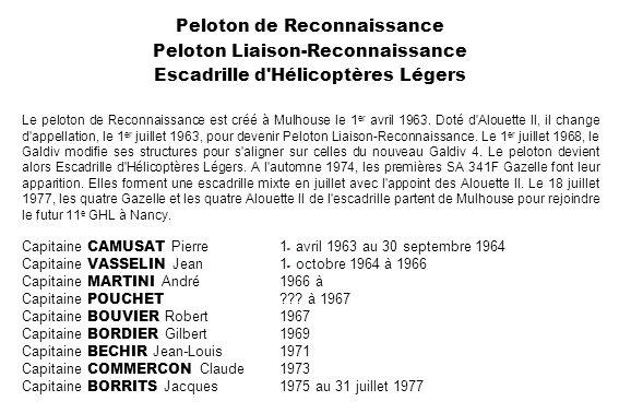 Peloton de Reconnaissance Peloton Liaison-Reconnaissance