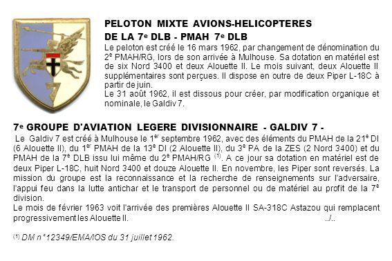 PELOTON MIXTE AVIONS-HELICOPTERES DE LA 7e DLB - PMAH 7e DLB