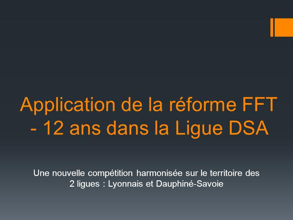 Application de la réforme FFT - 12 ans dans la Ligue DSA