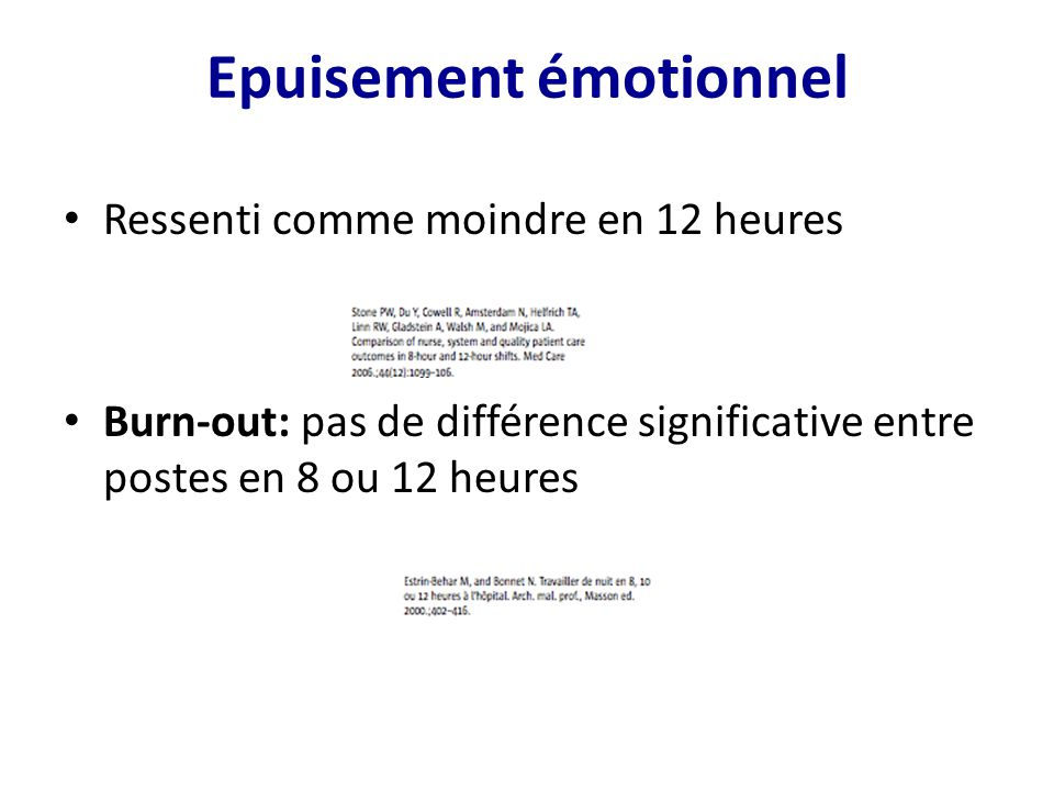 Epuisement émotionnel
