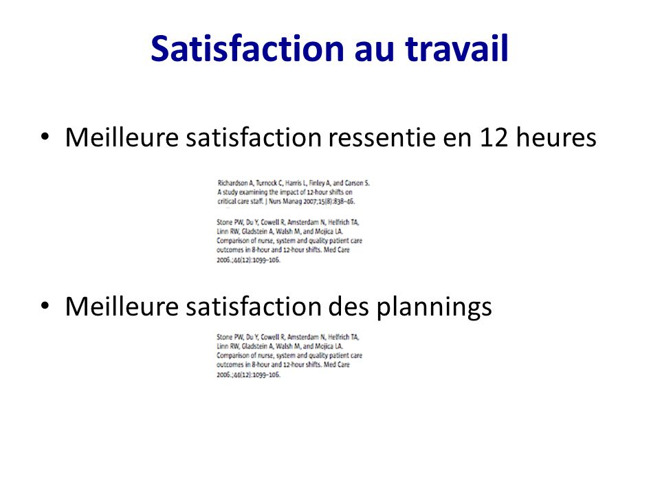 Satisfaction au travail