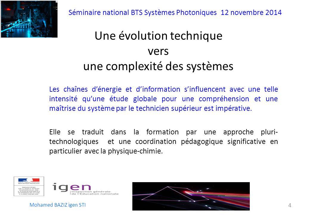 Une évolution technique vers une complexité des systèmes
