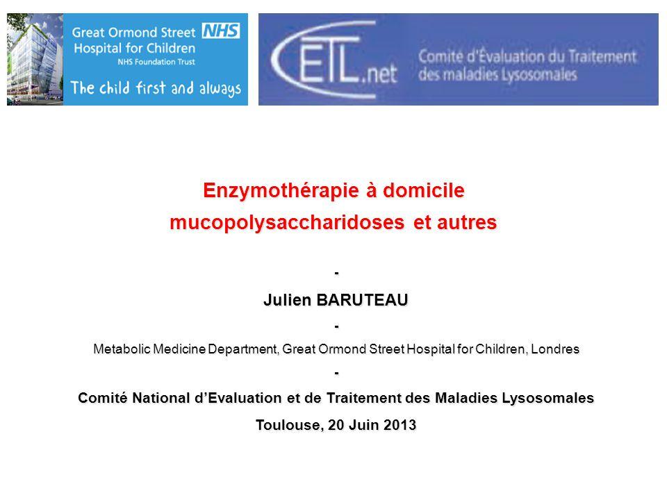 Enzymothérapie à domicile mucopolysaccharidoses et autres