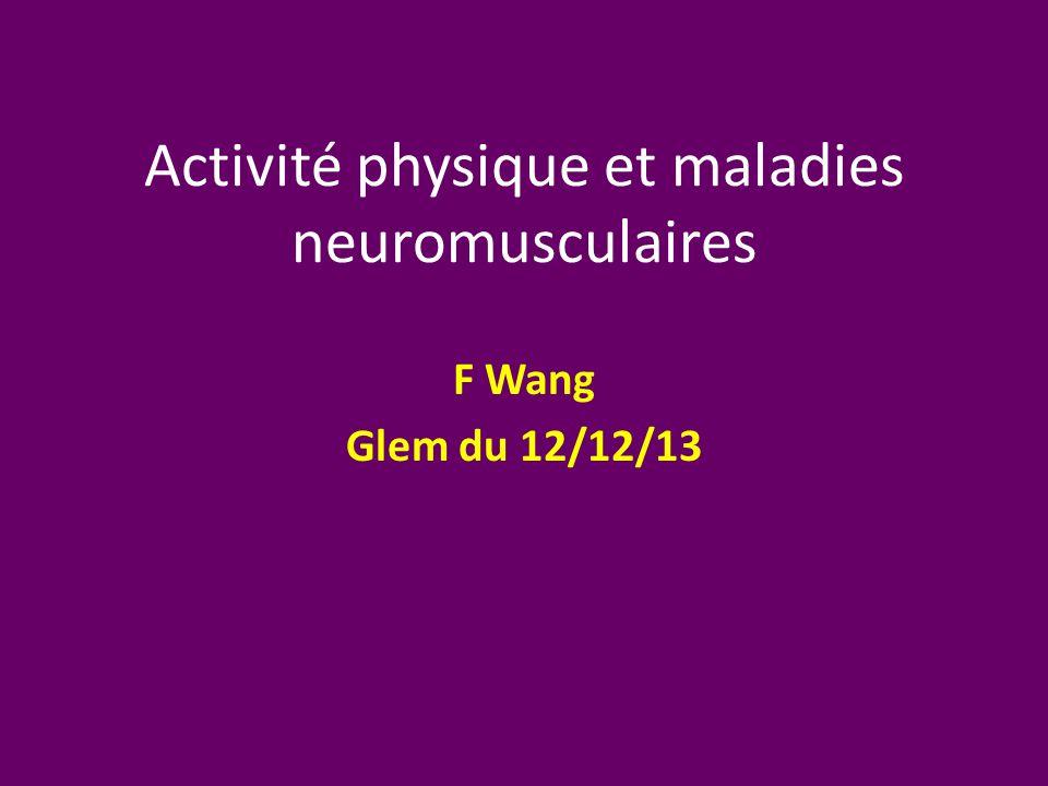 Activité physique et maladies neuromusculaires