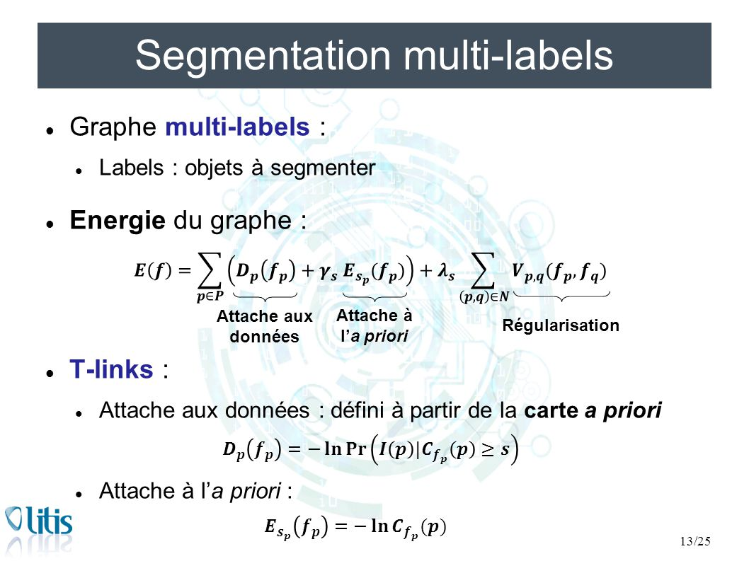 Segmentation multi-labels