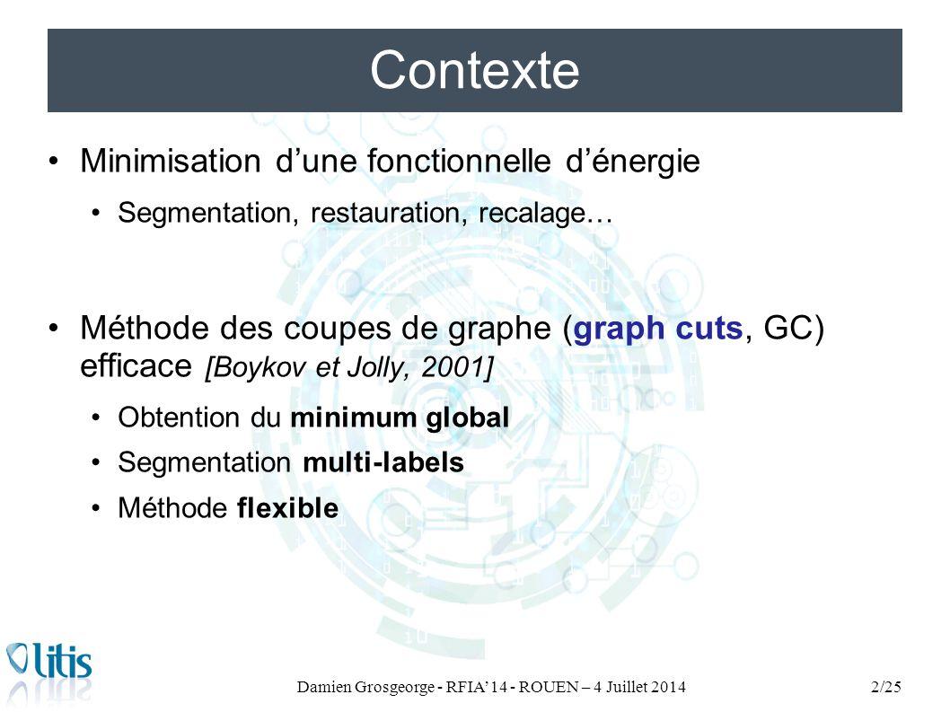 Damien Grosgeorge - RFIA'14 - ROUEN – 4 Juillet 2014