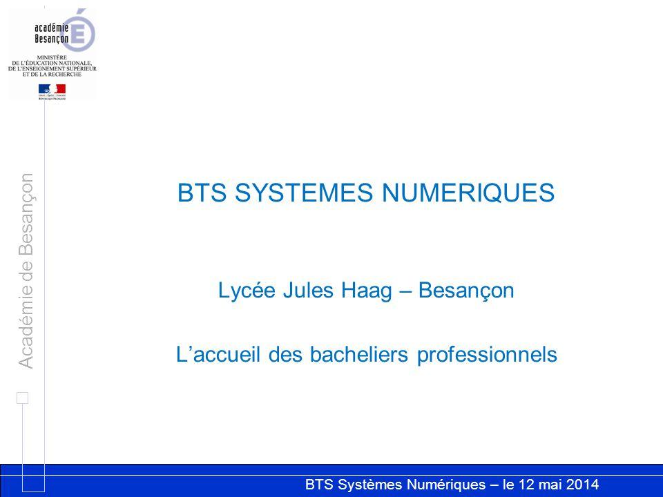 BTS SYSTEMES NUMERIQUES