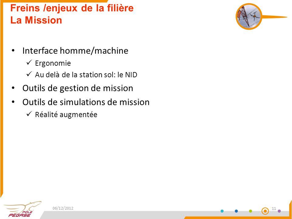 Freins /enjeux de la filière La Mission