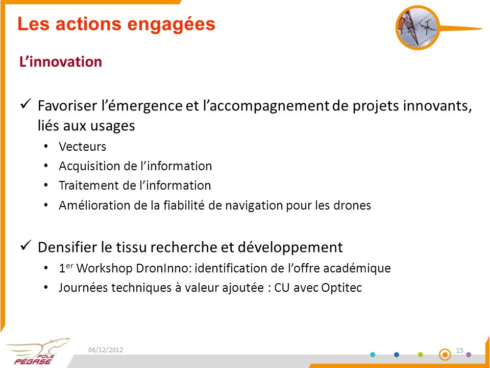 Les actions engagées L'innovation