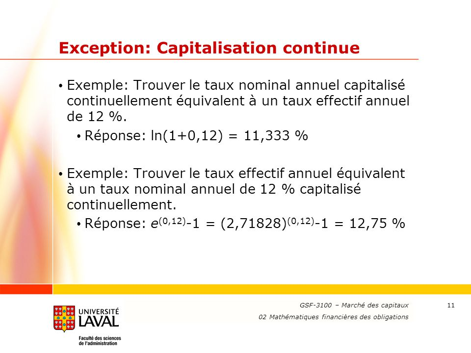 Exception: Capitalisation continue