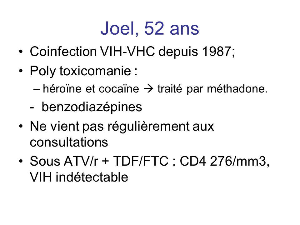 Joel, 52 ans Coinfection VIH-VHC depuis 1987; Poly toxicomanie :