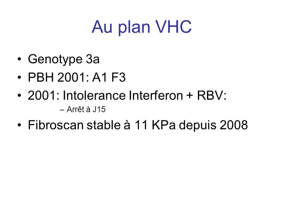 Au plan VHC Genotype 3a PBH 2001: A1 F3