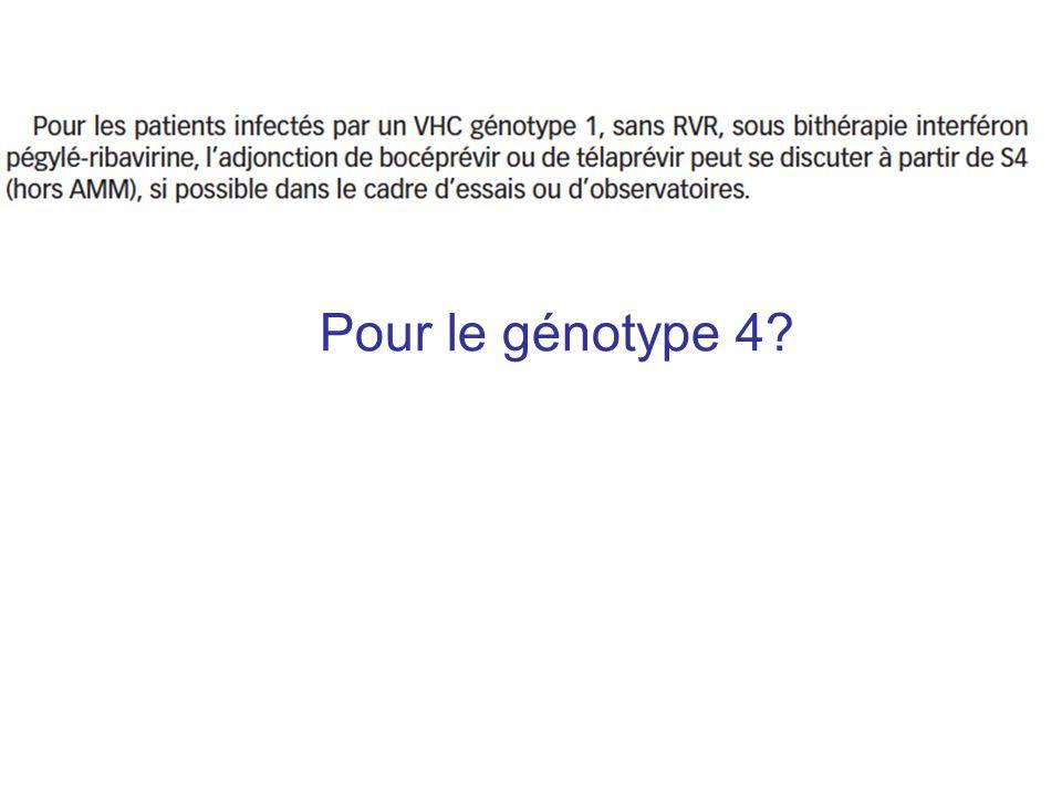 Pour le génotype 4