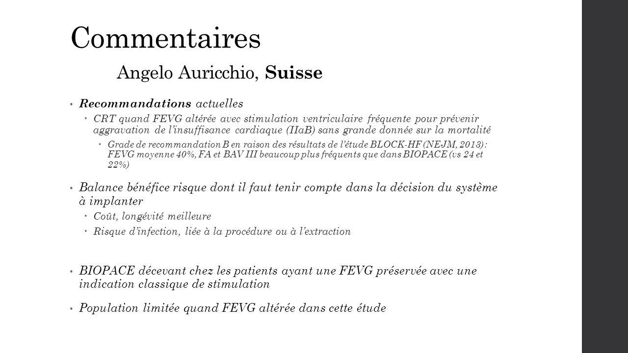 Commentaires Angelo Auricchio, Suisse