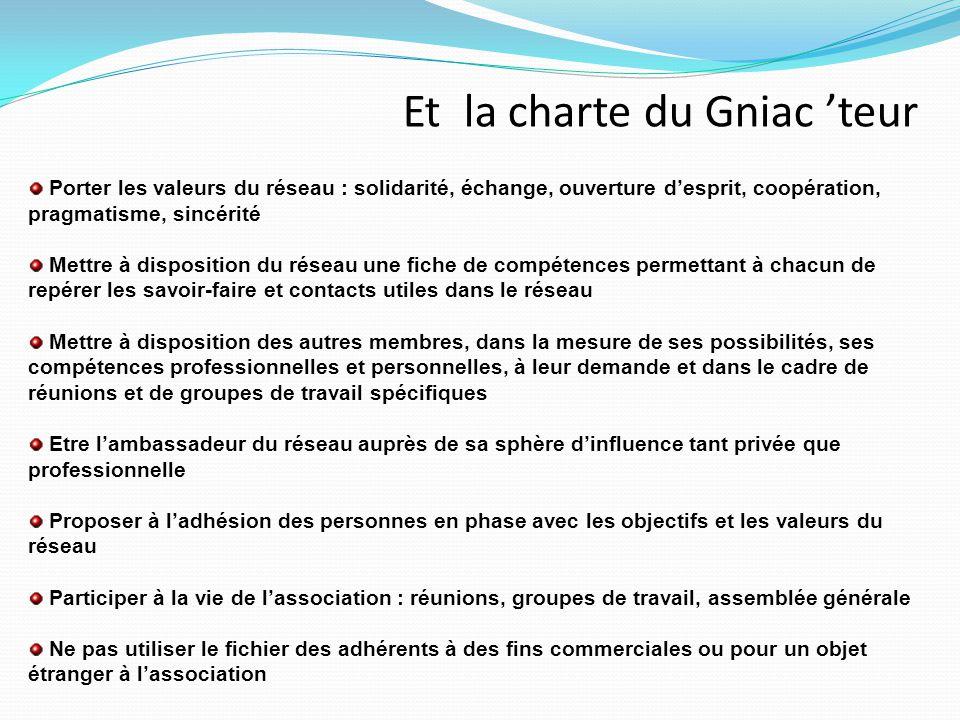 Et la charte du Gniac 'teur