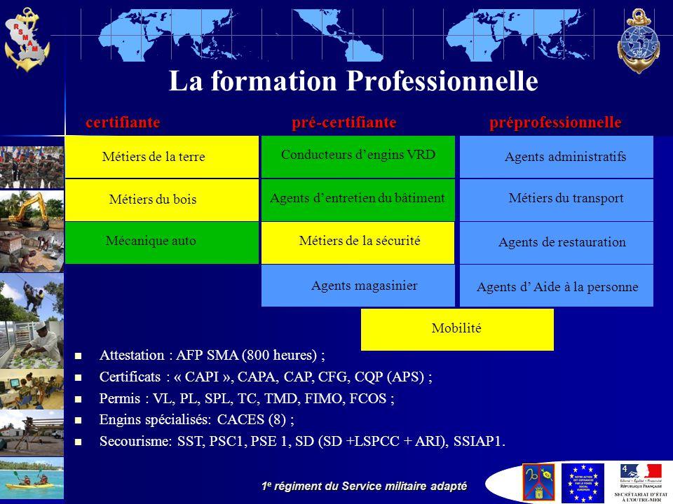 La formation Professionnelle certifiante. pré-certifiante