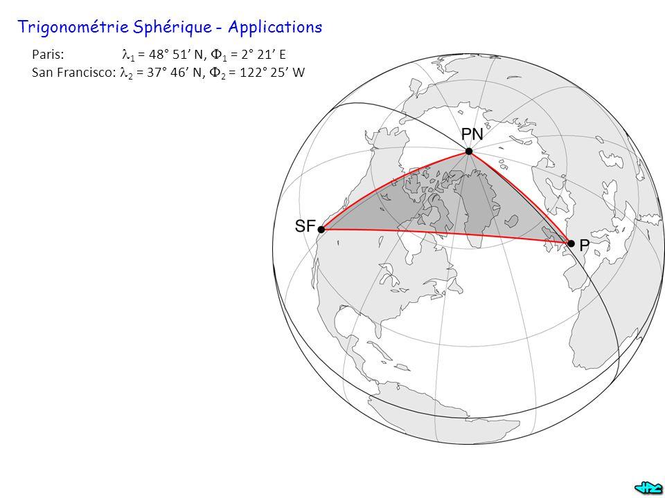 Trigonométrie Sphérique - Applications