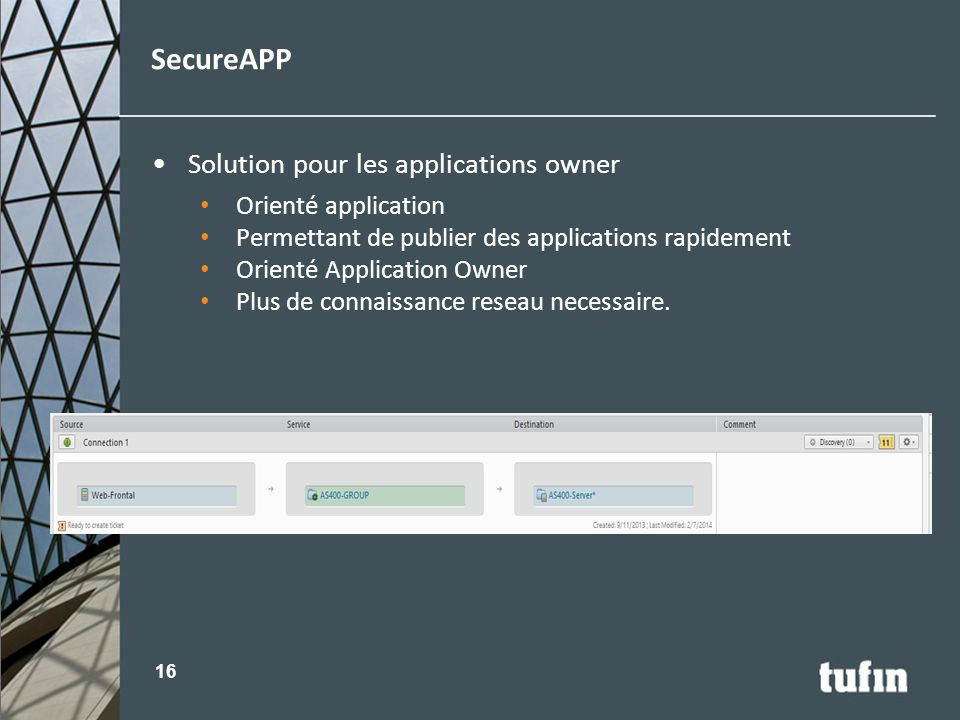 SecureAPP Solution pour les applications owner Orienté application