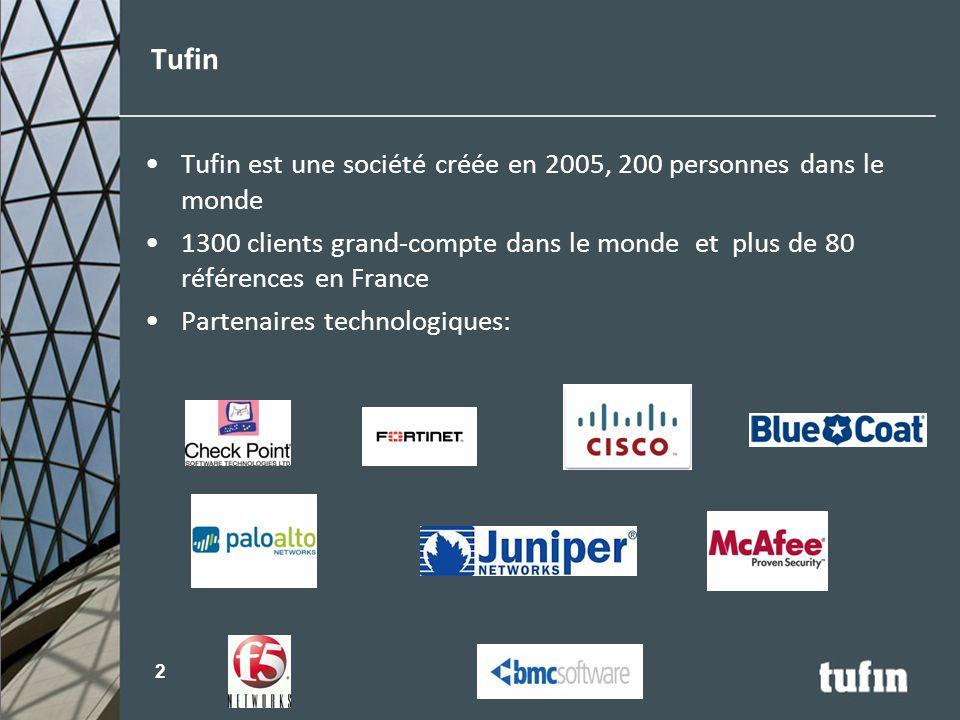 Tufin Tufin est une société créée en 2005, 200 personnes dans le monde