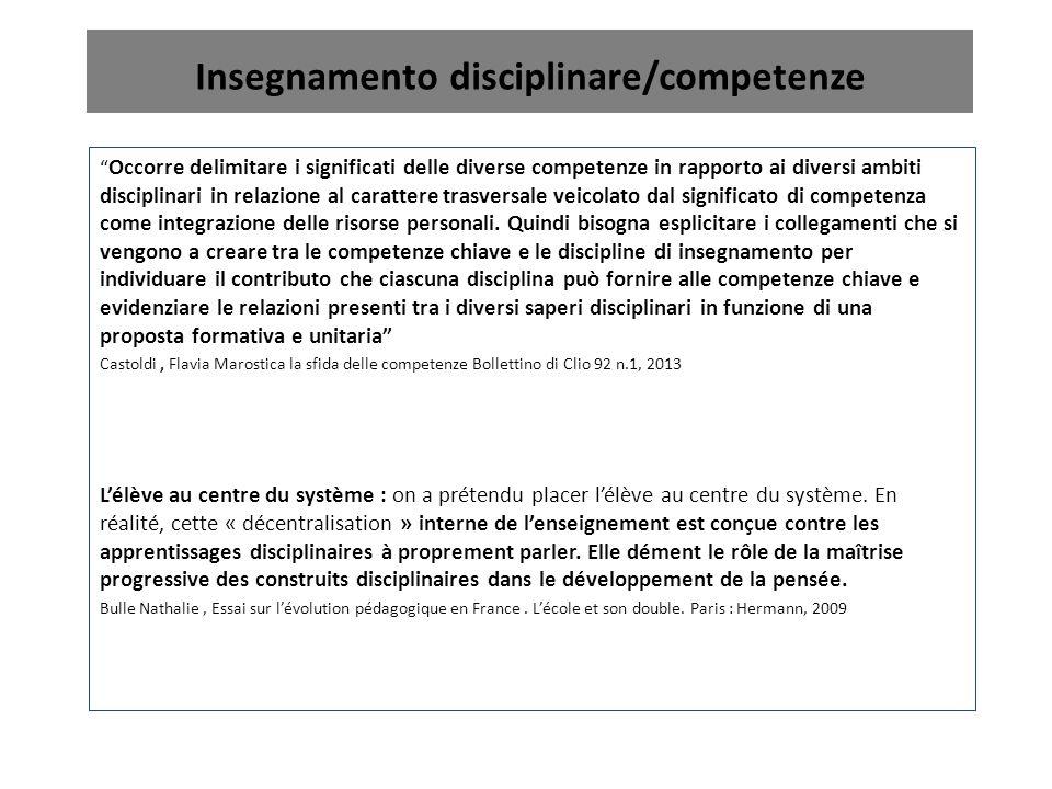 Insegnamento disciplinare/competenze