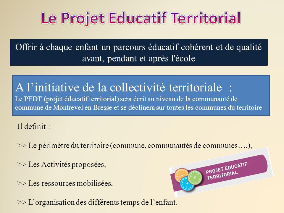 Le Projet Educatif Territorial