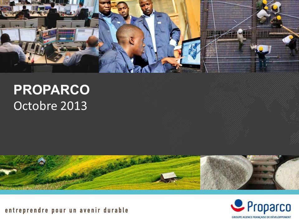 PROPARCO Octobre 2013