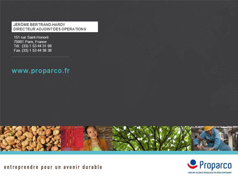 www.proparco.fr Jérôme Bertrand-Hardy Directeur adjoint des operations