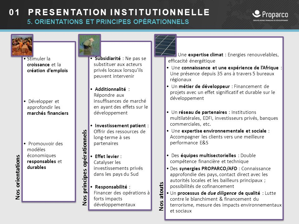 01 PRESENTATION INSTITUTIONNELLE