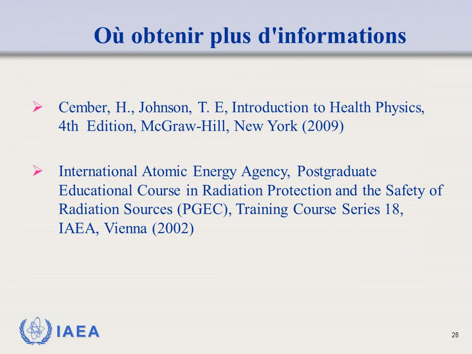 Où obtenir plus d informations