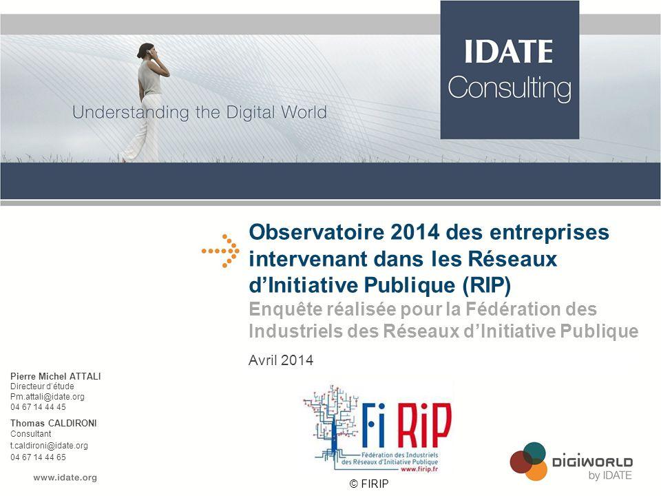 Observatoire 2014 des entreprises intervenant dans les Réseaux d'Initiative Publique (RIP)