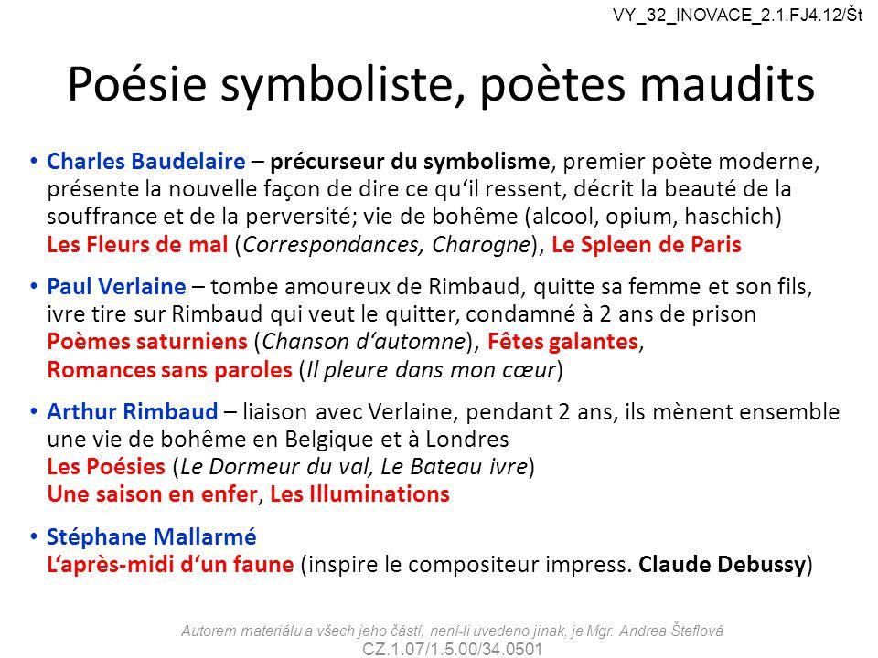Poésie symboliste, poètes maudits