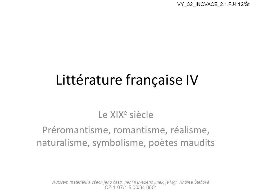 Littérature française IV