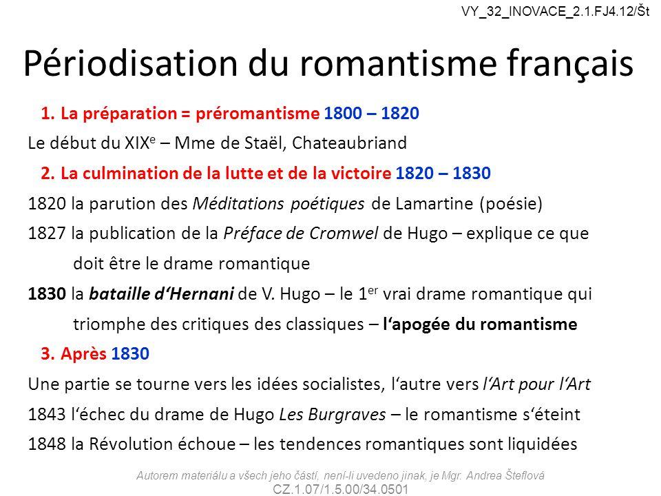 Périodisation du romantisme français