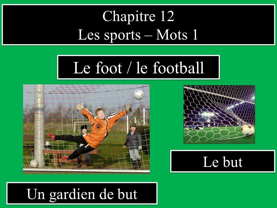Le foot / le football Chapitre 12 Les sports – Mots 1 Le but