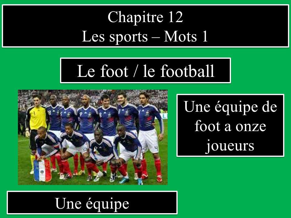 Une équipe de foot a onze joueurs