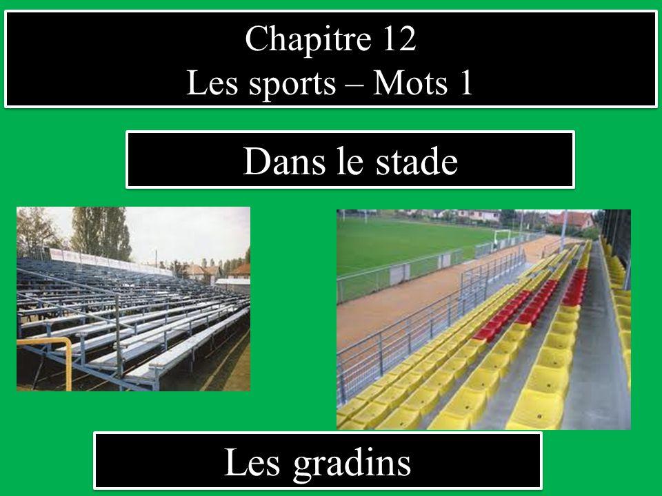 Chapitre 12 Les sports – Mots 1 Dans le stade Les gradins