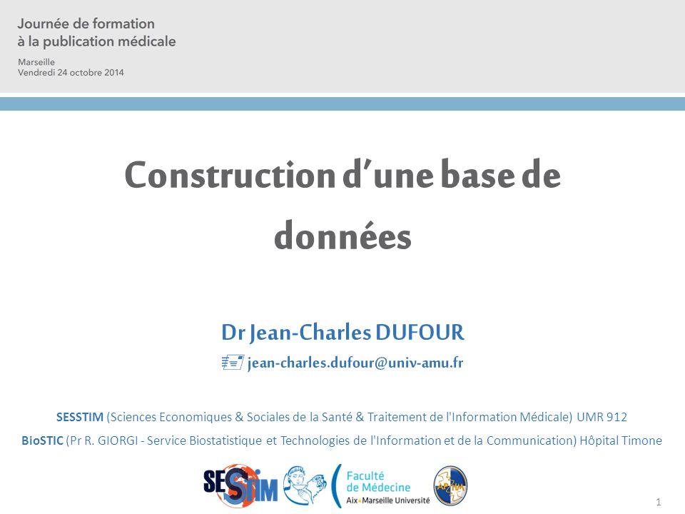 Construction d'une base de données