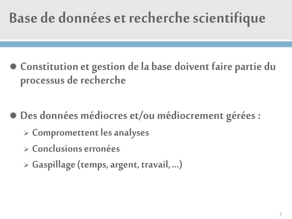 Base de données et recherche scientifique