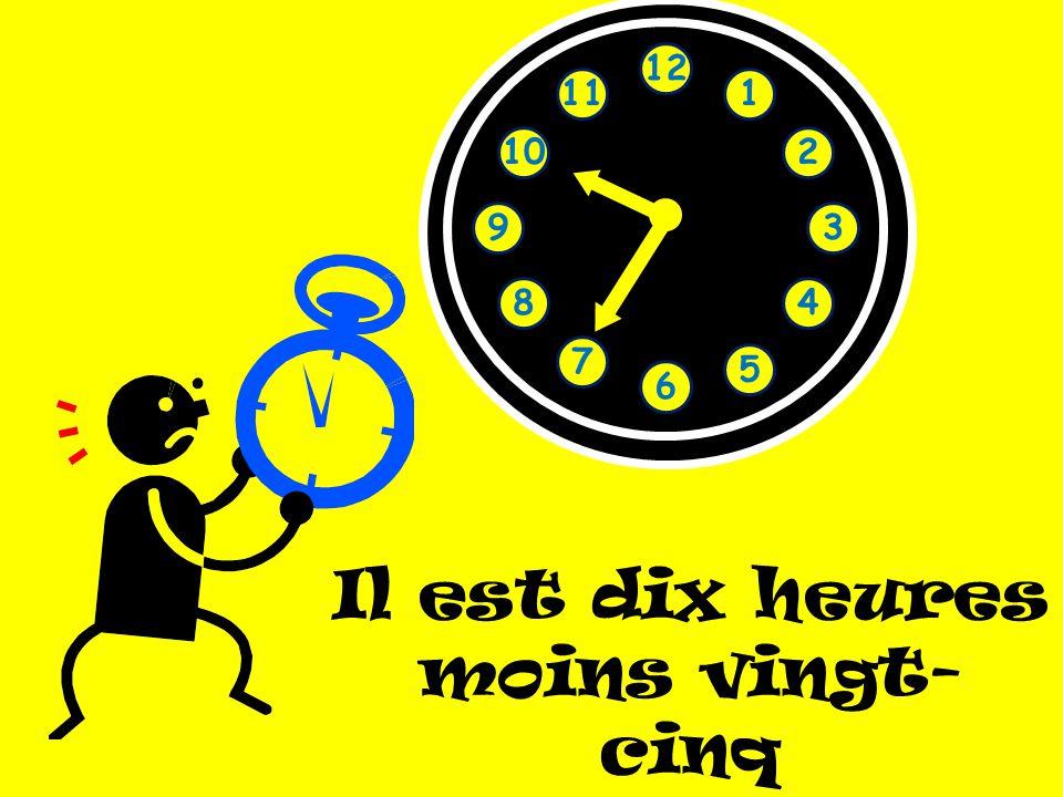 Il est dix heures moins vingt-cinq