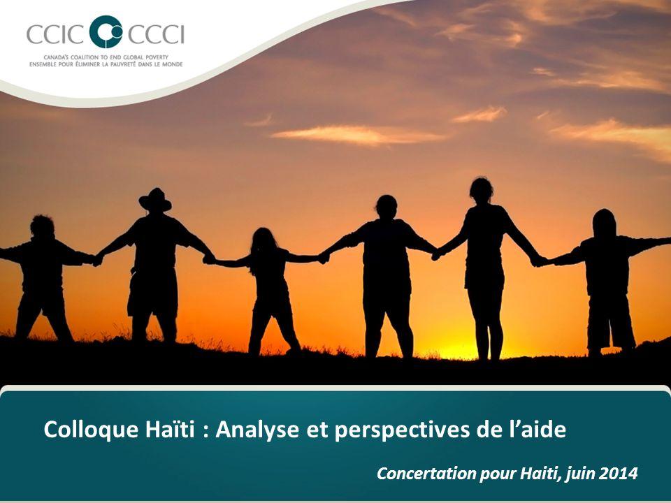 Colloque Haïti : Analyse et perspectives de l'aide