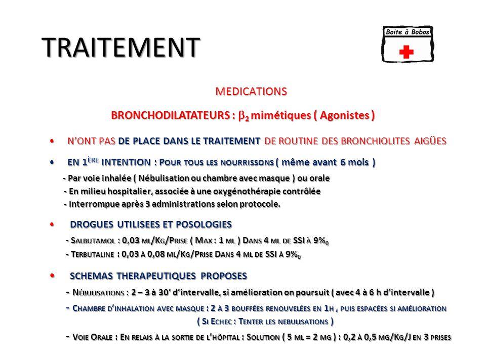 BRONCHODILATATEURS : 2 mimétiques ( Agonistes )