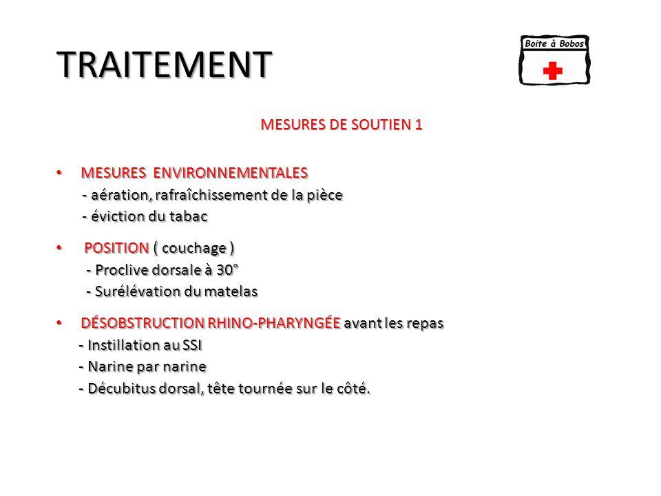 TRAITEMENT MESURES DE SOUTIEN 1 Mesures Environnementales