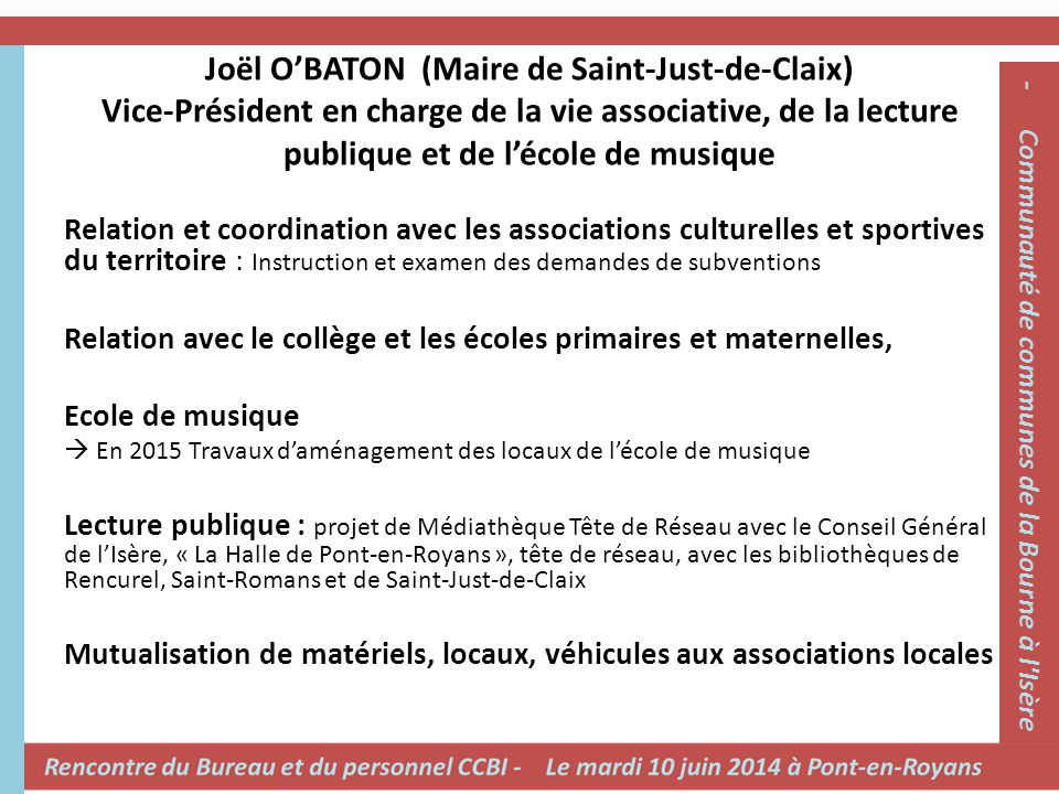 - Communauté de communes de la Bourne à l Isère -
