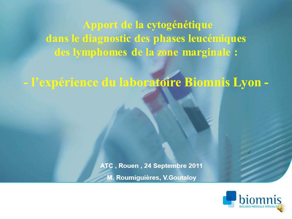 - l'expérience du laboratoire Biomnis Lyon -