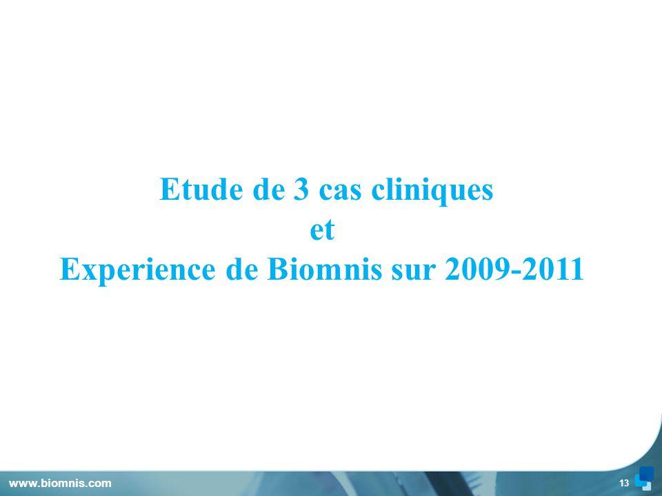 Experience de Biomnis sur 2009-2011