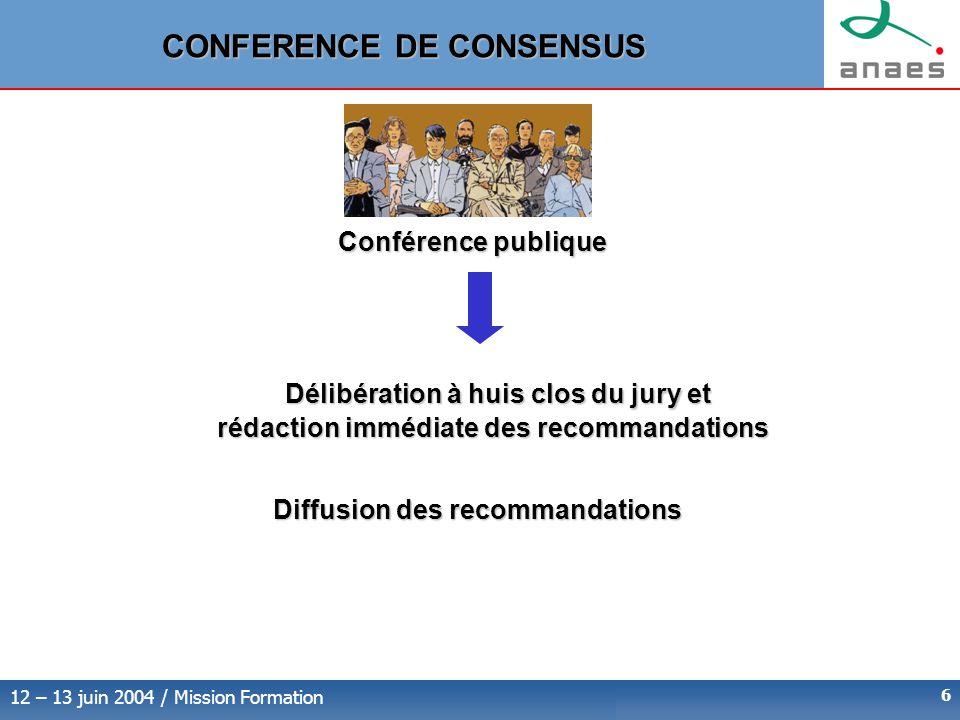 rédaction immédiate des recommandations
