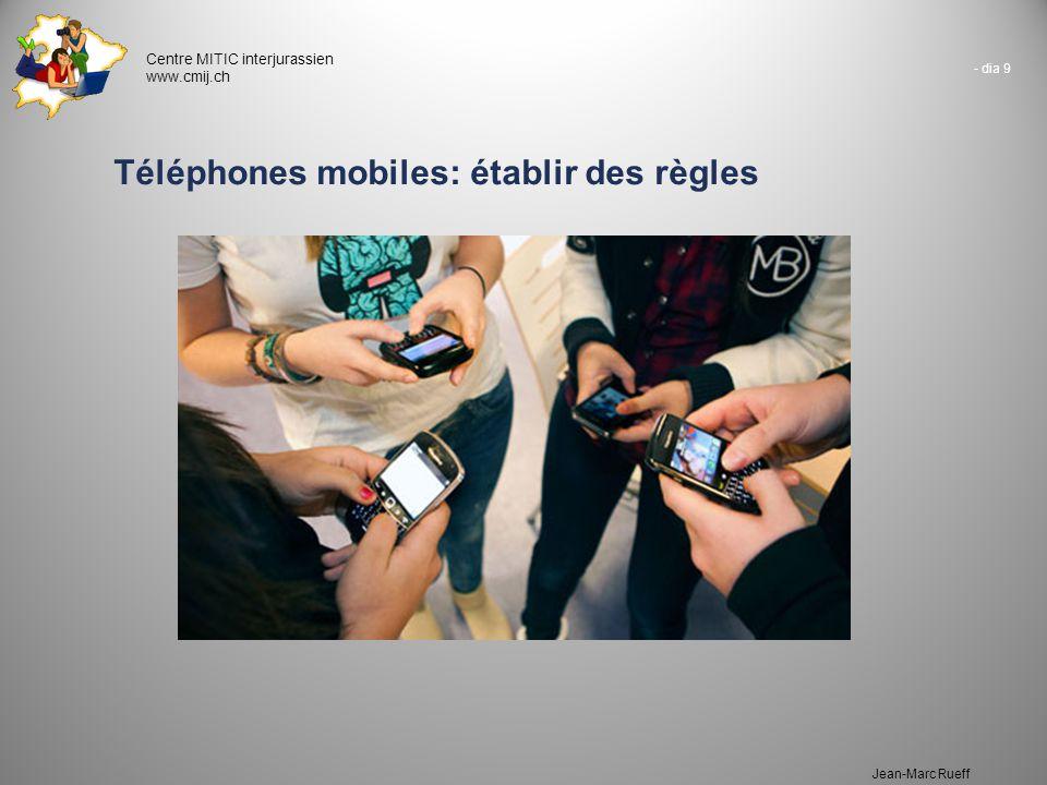 Téléphones mobiles: établir des règles