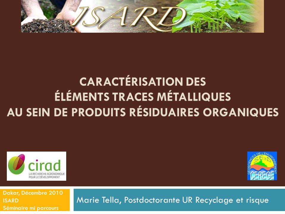 Marie Tella, Postdoctorante UR Recyclage et risque