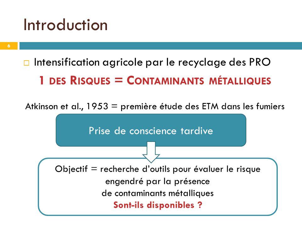 1 des Risques = Contaminants métalliques